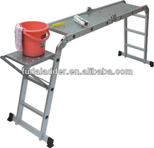 Aluminio plegable multiuso escalera con plataforma y for Escalera aluminio plegable