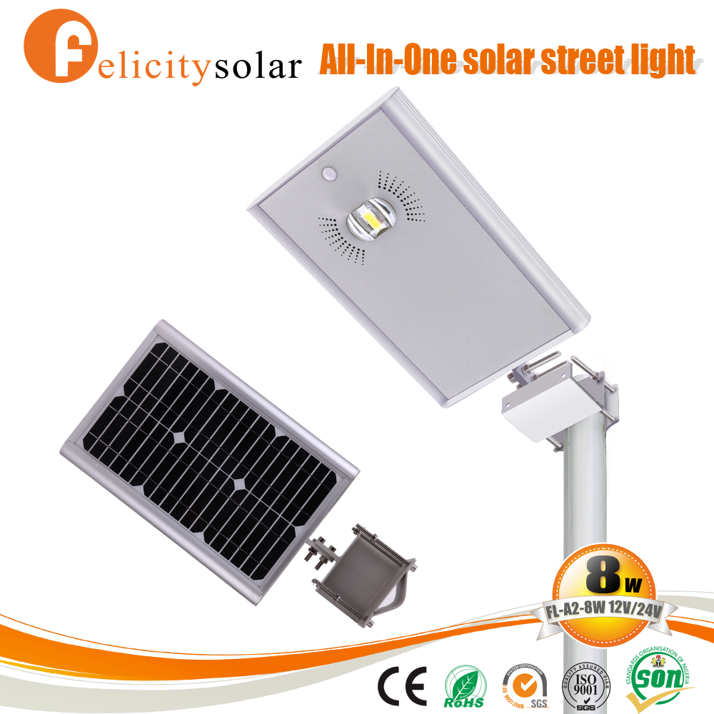 All in one integrated solar powered street lights cost for Costa Rica
