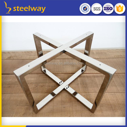 X shape cross stainless steel round table leg
