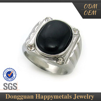 stainless steel black onyx ring jewelry