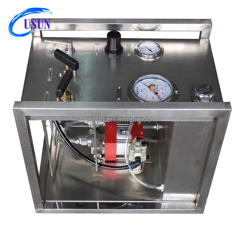 New design USUN Model:WS-UM44 352 Bar Output air liquid booster pump station