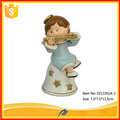 Painted small angel figurines wholesale polyresin angel for christmas