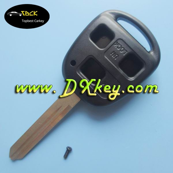 Blank key fobs for toyota remote key 3 buttons car key shell with TOY47 blade without logo without stiker