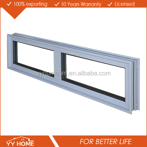 YY Home double low e glass aluminum fixed window single pane windows