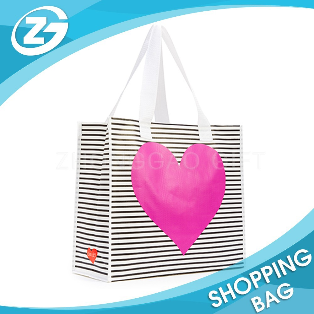 Eco-Friendly Promotional Printing PP Polypropylene Woven Hand Shopping Tote Bag