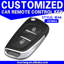 433MHz Car Sensor Key for Peugeot Citroen 2 Button Remote Key Blank MTF-102525