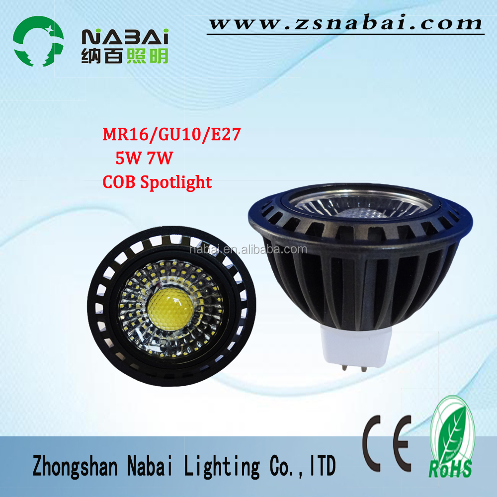zhongshan <strong>led</strong> <strong>light</strong> <strong>5W</strong> 7W COB spotlight <strong>led</strong> GU10 MR16 100-265V