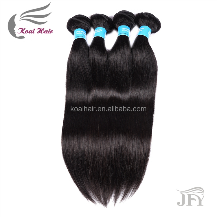 silky satin bags straight hair weave, unprocessed virgin Peruvian hair weaves pictures