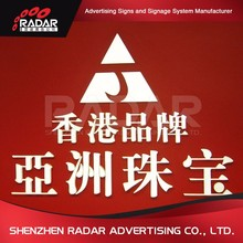 Chinese manufacture famous brand marketing advertising backlit led letters acrylic sign for Advertising Light Boxes
