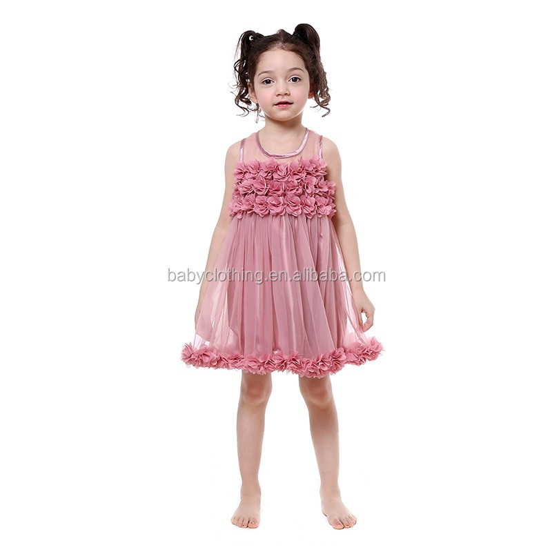 modern girls dresses flutter sleeve 4th of july young girls dress