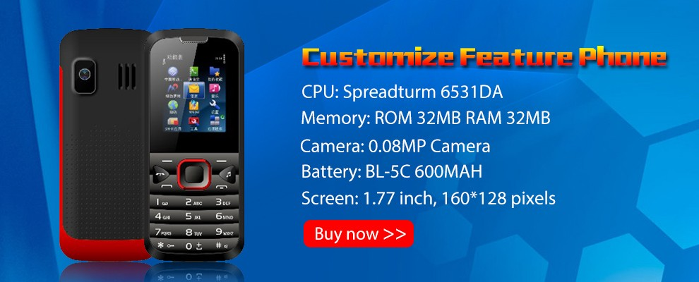 1.77inch 32MB+32MB Spreadtrum6531 G05 Low Price China Cell Phones