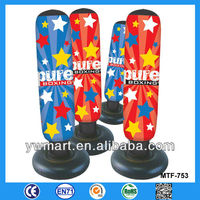 Colorful printing inflatable punch bag toy, inflatable toys/ inflatable kids bop punch bag