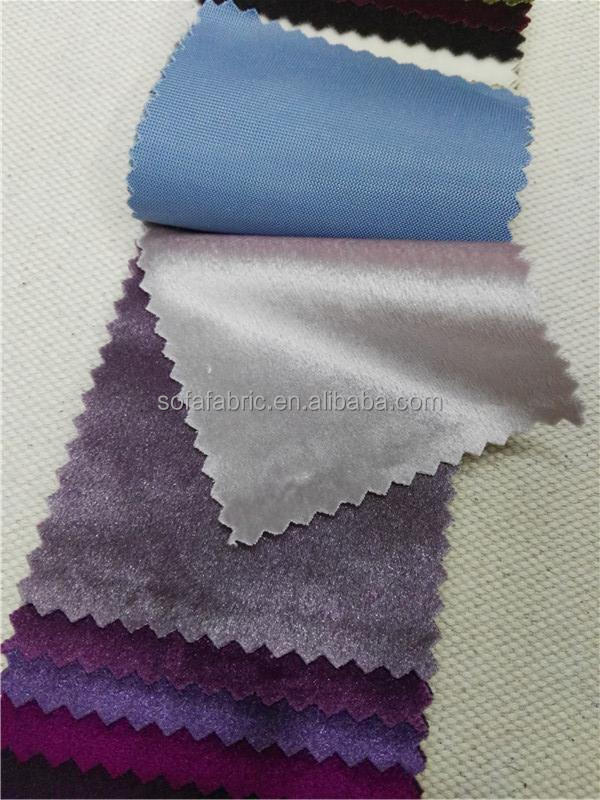 new style 100% polyester shiny velvet fabric for sofa from China supplier