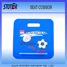Waterproof foam stadium seat cushion with personized logo