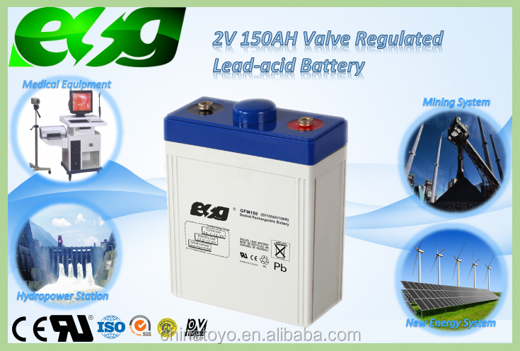 Solar Battery 2v 100ah 150ah 200 ah deep cycle battery for Solar Street Lights Solar Home System