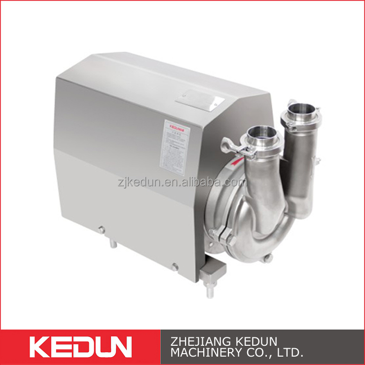Food Grade Double Flushed Stainless Steel Hygienic Water Supply Self-Priming Pumps