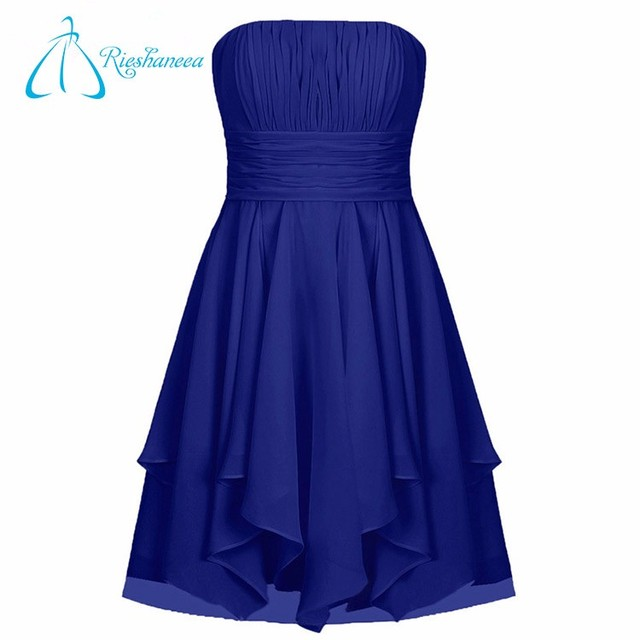 Plus Size Hot Sale Cheap Strapless Chiffon Bridesmaid Dress