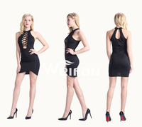 Sexy Open Back Black Cocktail Dresses