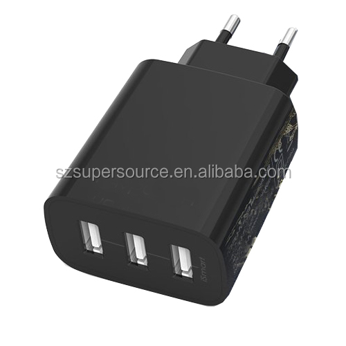 24W 4.8A 3 port travel wall charger high speed charging power adapter EU plug for Motorola Droid RAZR MAXX