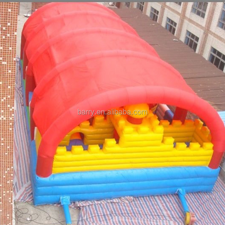 Barry inflatable theme park for kids with inflatable obstacle course inside