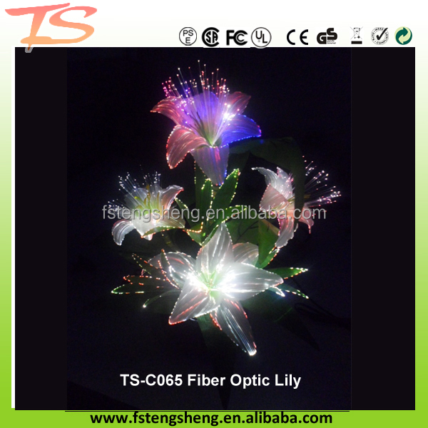 2017 high-quality artificial LED Fibre Optic Flower lamp with bright Led Color changing