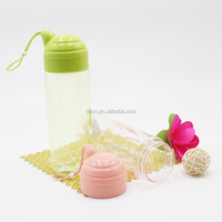 500ML Clear Plastic Sports Drinking Water Bottle with lanyard