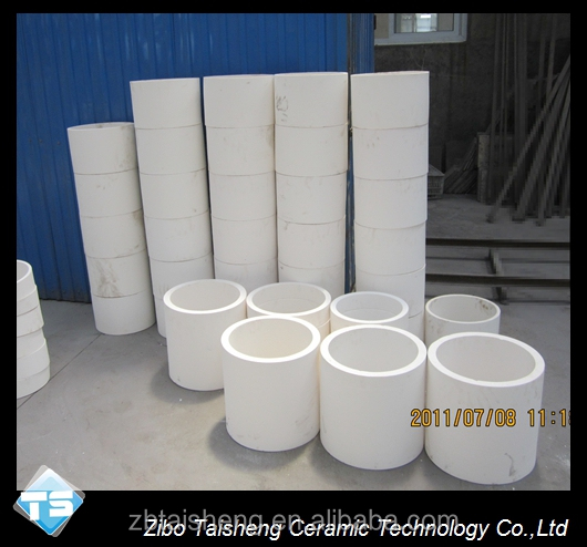Integral no wetting Lined alumina ceramic pipeline superior wear resistance than common ceramic
