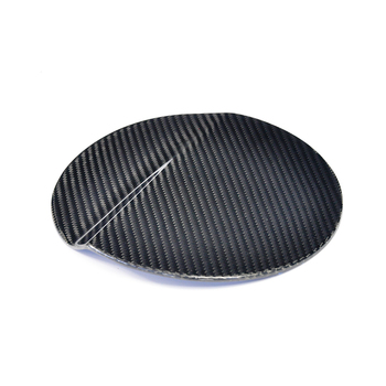 Carbon Fiber Car Fuel Tank Gas Cap Cover Gloss Black Finished For Ford MUSTANG 2015