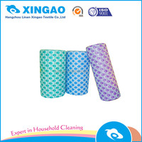 biodegradable cleaning products segment nonwoven wipes 30*50cm*50pcs/roll 50%vis and 50%pet