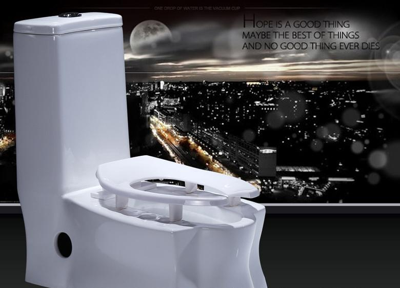 003# Best Quality Bathroom Commode One Piece Toilet Siphonic toilet