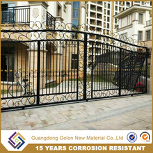 outdoor decoration Steel Design Wrought aluminum Garden Fence/ wrought iron fence gate