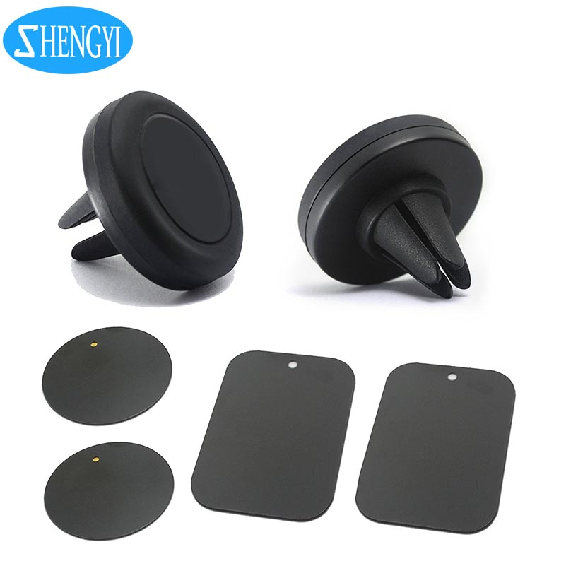 Universal 360 Aluminum Alloy Custom Logo Mini Mobile <strong>cell</strong> <strong>Phone</strong> Air Vent Mount Car Magent <strong>Phone</strong> Holder