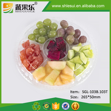 Plastic candy Fruit Packaging Boxes With 6 Cells