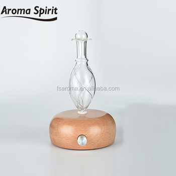 Wholesale essential oil diffuser made with glass & wood