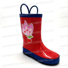 Good quality low price kids rubber rain boots for wholesale