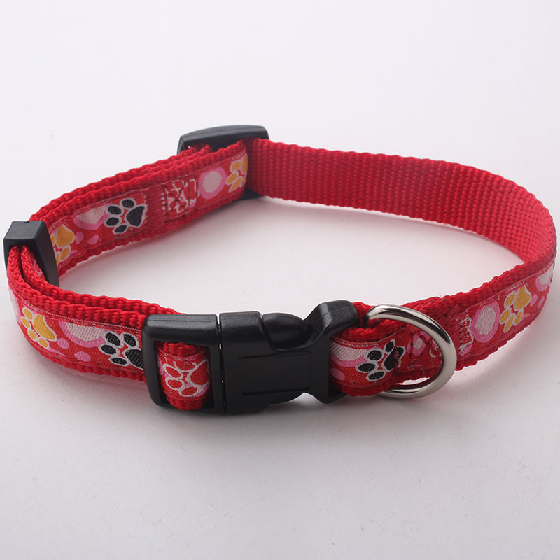 High Quality Pet Products Custom Logo Wholesale Pet Collar with Plastic Buckles