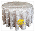 free shipping Wedding round ivory petal taffeta tablecloth/embroidered table cloth hot sale