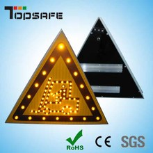 Aluminium Solar Led Traffic Warning Triangle