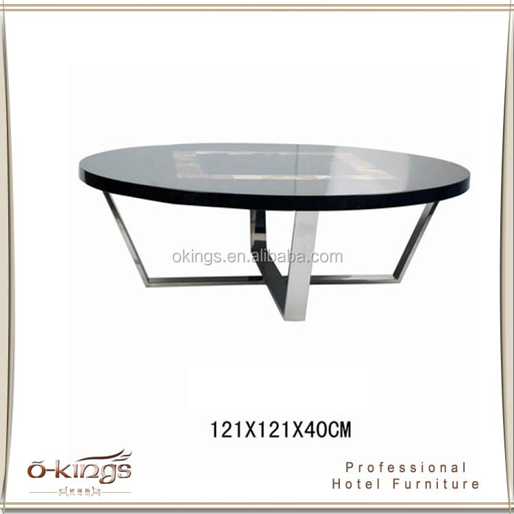 Stainless steel leg round coffee table,tea table