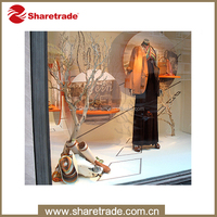 window artificial plastic ornament display tree