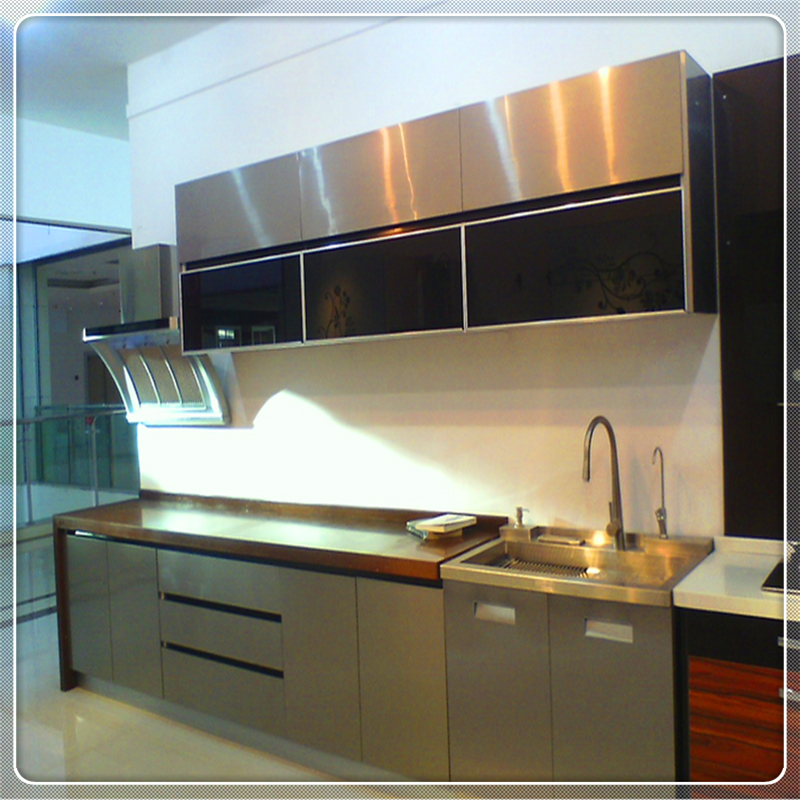 China Stainless Steel Modular Cheap Kitchen Cabinet modern