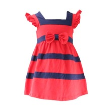 2017 newest style OEM service factory price 1-6 years old baby girl dress