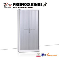 Commercial furniture KD structure steel cabinet with shutter door