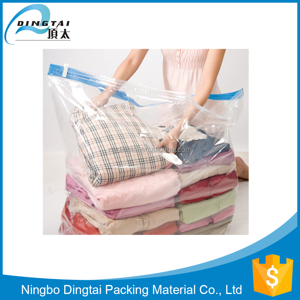 Space saving household plastic bag jumbo vacuum bag