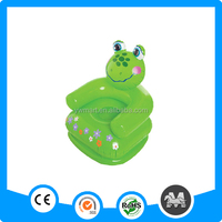 Hot sale green frog cheap kids sofa min inflatable animal sofa for kids