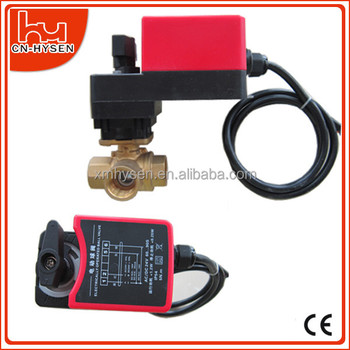 On/off or 3-point 3 way electric control water ball valve for HVAC water system