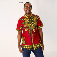 New arrival hot sale red dashiki african shirts printed clothes for men