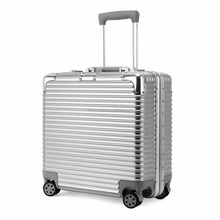 17 inch business trolley luggage cabin business suitcase with laptop compartment