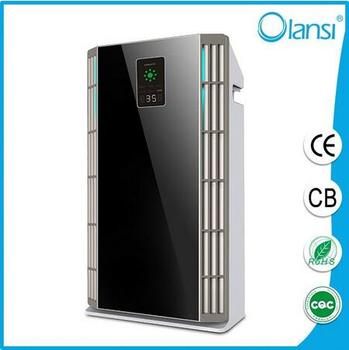 2016 hot sell home/office air purifier high efficiency HEPA filter with patented technology, big CADR & PM2.5 display