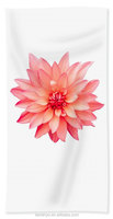 100%cotton Unique Pink Dahlia Floral Hand/ bath towel bt-069